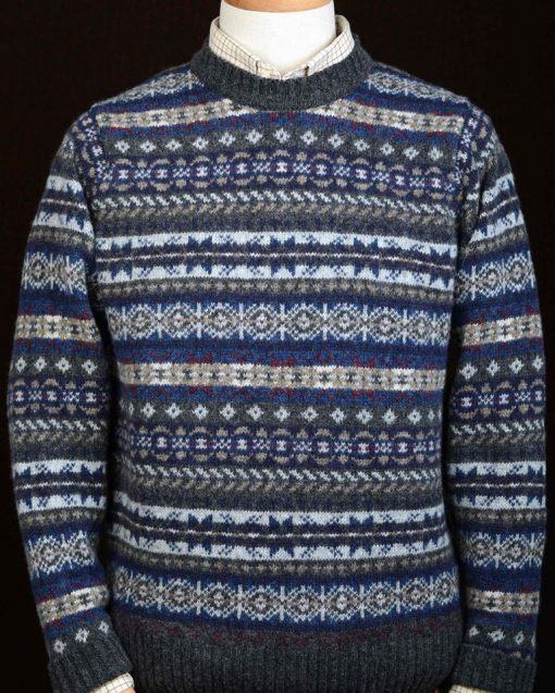 mens fairisle jumper colour oxford