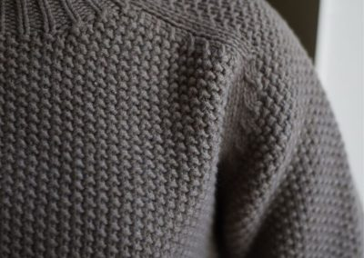 green moss stitch jumper