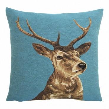 stag cushion teal