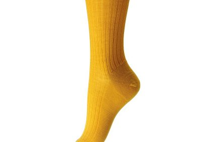 ladies yellow merino wool socks