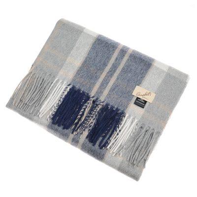 silver check stole