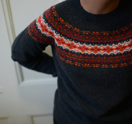 ladies fairisle jumper colour anthracite