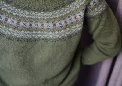 ladies fairisle jumper colour lichen