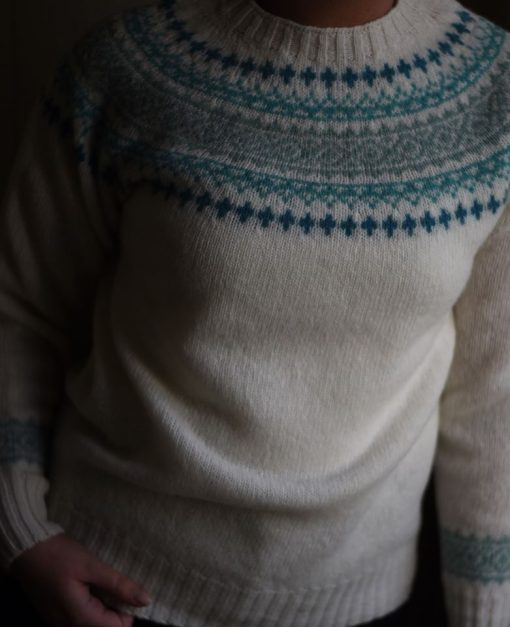 ladies fairisle jumper colour winter white
