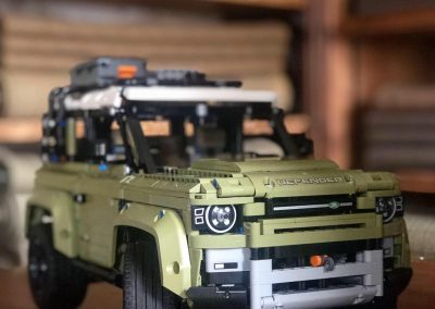 technic landrover lego completed car