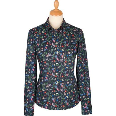floral pattern liberty print shirt