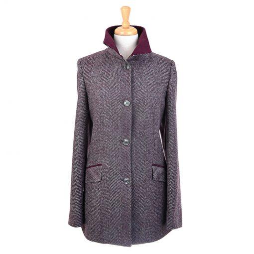 burgundy herringbone jacket