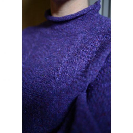 purple fishermans rib jumper