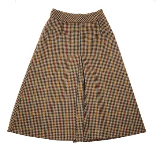 cullottes in brown tweed