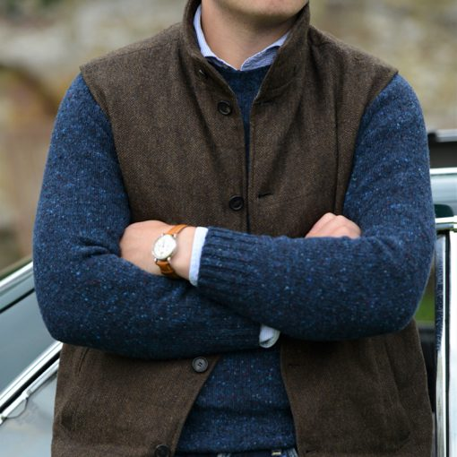 mens donegal jumper colour blue