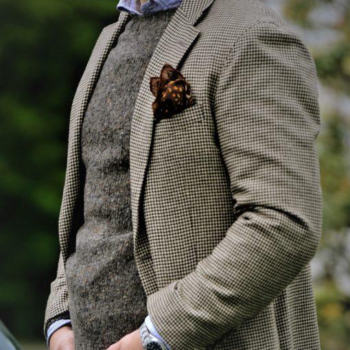 mens donegal jumper colour grey
