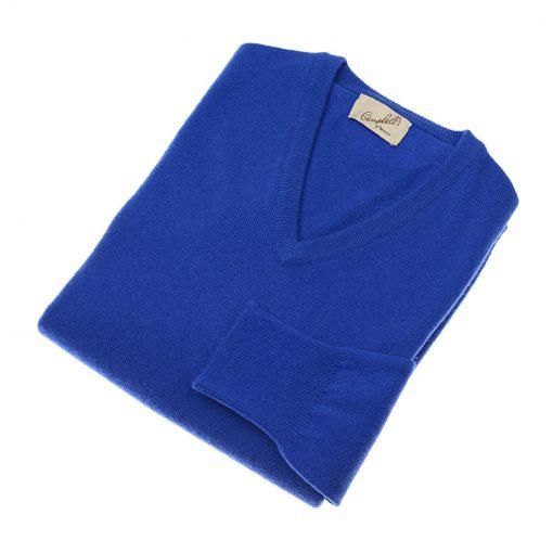 blue v neck jumper