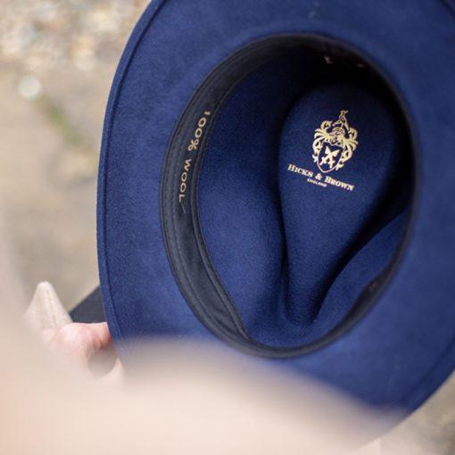 blue hat detail