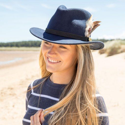 blue hat model