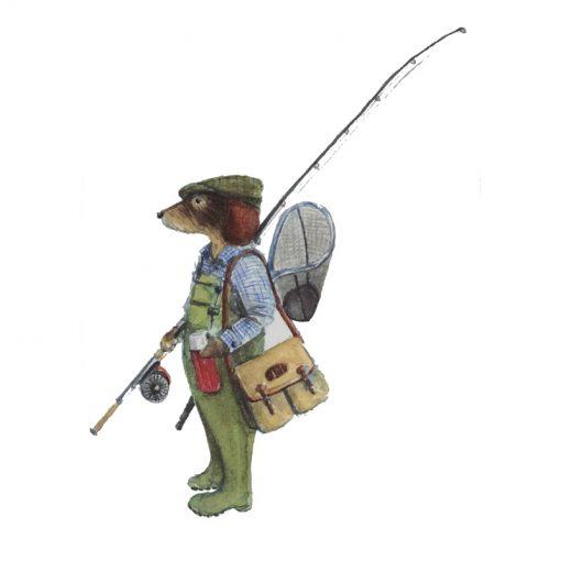 fishing dog