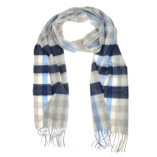 navy check scarf