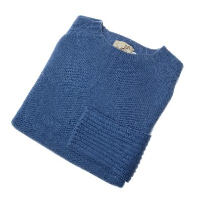 blue lambswool jumper