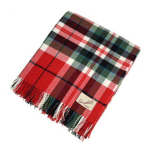 red and green check blanket