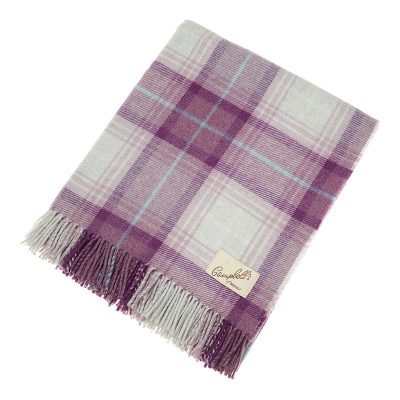 purple check blanket