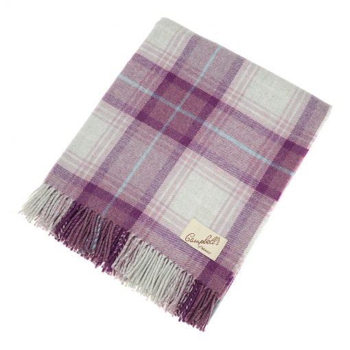 purple check blanket