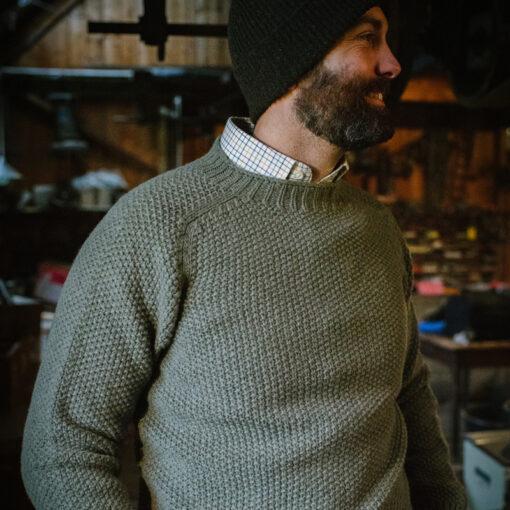moss stitch jumper