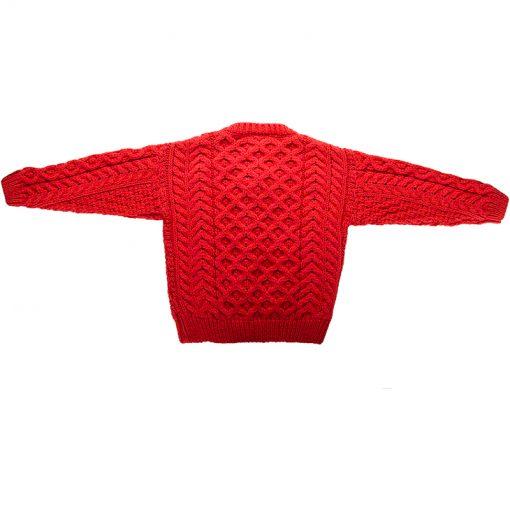 kids aran knit cardigan