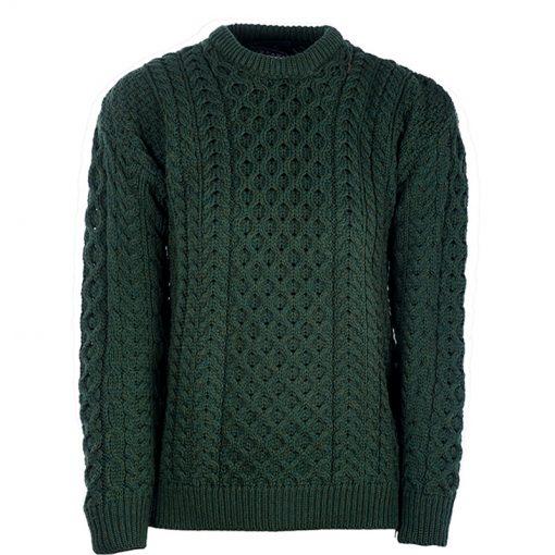 green aran knit jumper