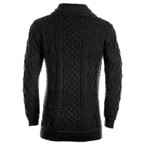 grey aran knit jumper