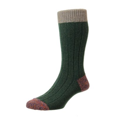 green marl sock