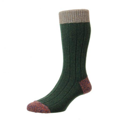 green marl sock