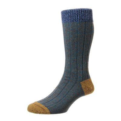 blue marl sock