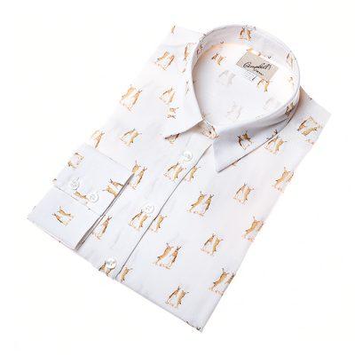 boxing hare pattern shirt