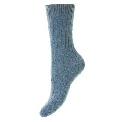 blue cashmere socks