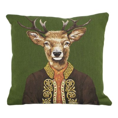alpine deer cushion