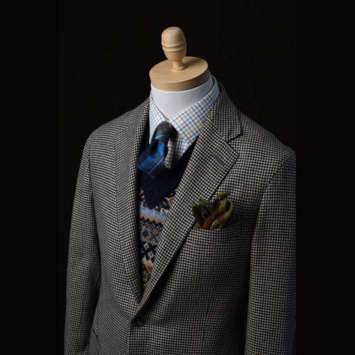 cashmere houndstooth jacket