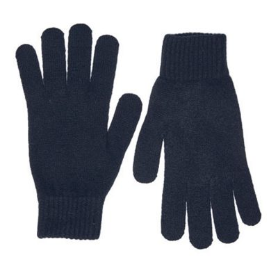 black lambswool gloves