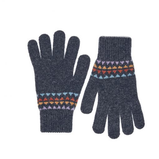 grey lambswool gloves