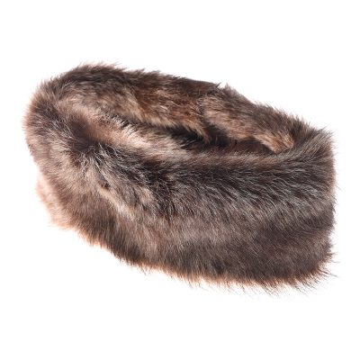 sheepskin brown headband