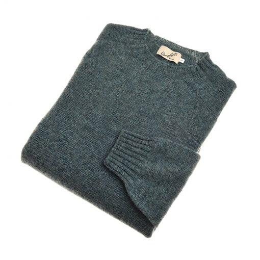 green shetland jumper