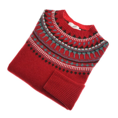 red fairisle jumper