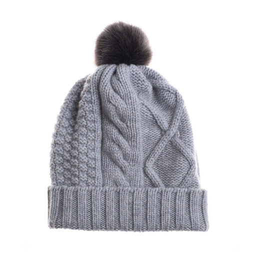 silver cashmere hat