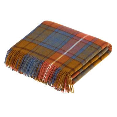 antique buchanan tartan blanket