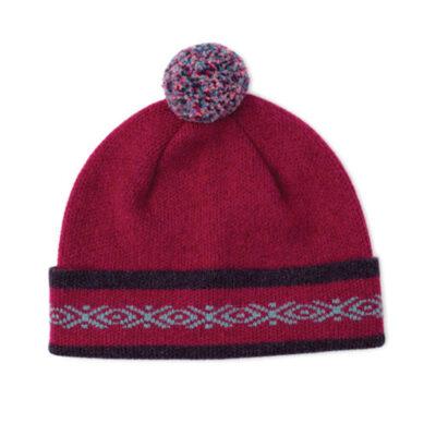 fairisle pom hat